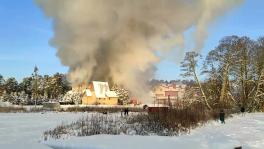 Pożar hotelu w Augustowie