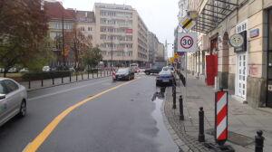 Strefa Tempo-30 na Mokotowskiej