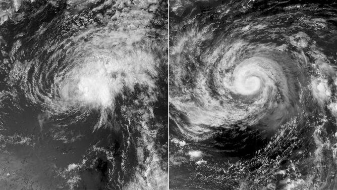 Burze tropikalne coraz bliżej Hawajów i Japonii