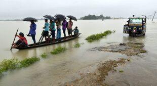 Powódź w Assam w Indiach