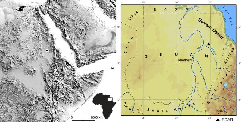 Lokalizacja odkryć (2021 Masojć et al./Uniwersytet Wrocławski)
