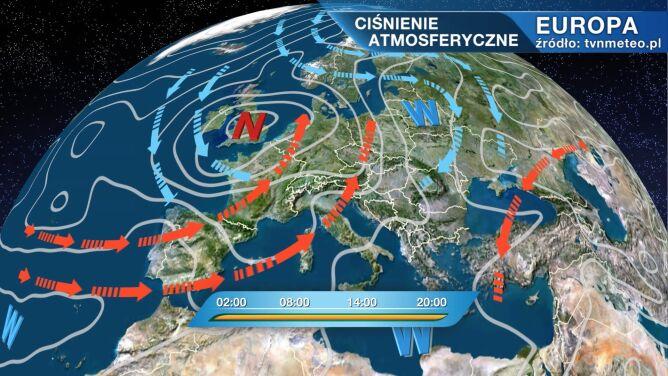 Niż Yukon rządzi pogodą w Polsce
