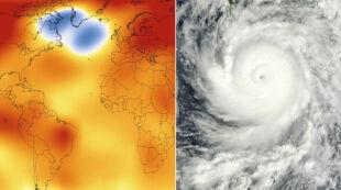 """Chłodny obszar """"ostudzi"""" sezon huraganów"""