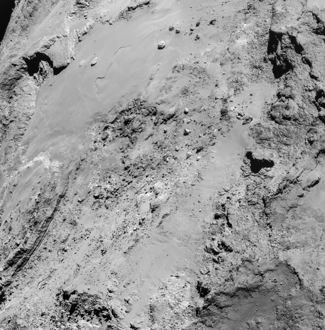 Zdjęcie komety 67P/Churyumov–Gerasimenko zrobione z odległości 8,9 km