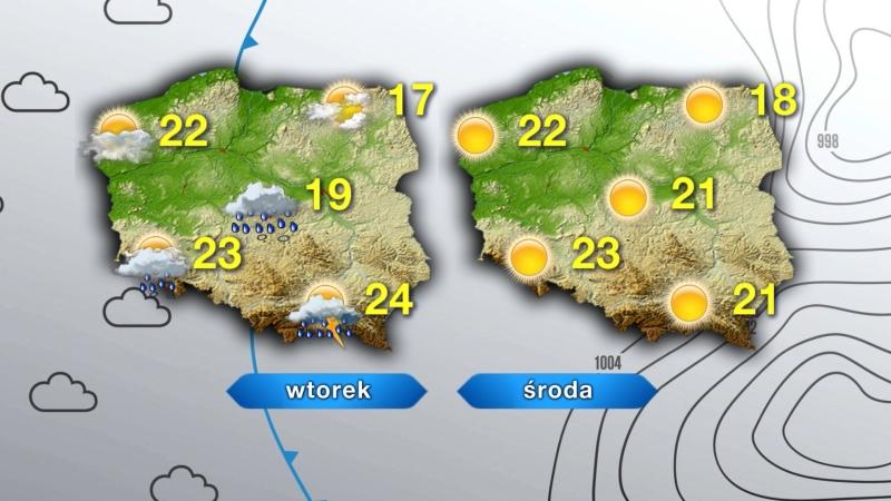 Pogoda na wtorek i środę